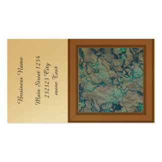 marbled lava blue (L) Pack Of Standard Business Cards