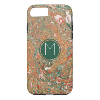 Marbled Monogramed iPhone 8/7 Case