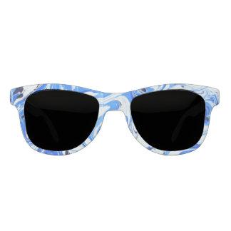 Marbled Ocean Flowers Sunglasses