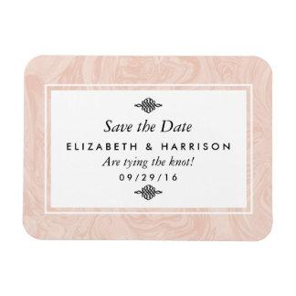 Marbled Rose Elegant Vintage Wedding Save The Date Rectangular Photo Magnet