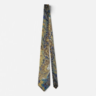 Marbled Tie Yellow & Brown