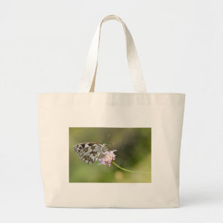 Marbled White butterfly on flower Canvas Bags