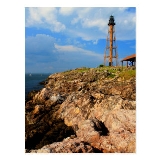 Marblehead Lighthouse and Ocean Bluffs Postcard