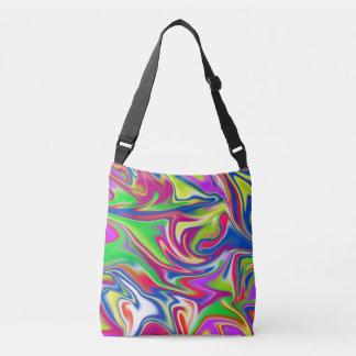 Marbleized Bubble Gum Pattern, Crossbody Bag