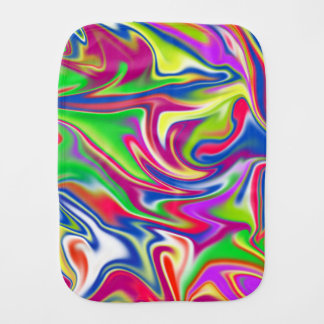 Marbleized Candy Liquid,_ Burp Cloth