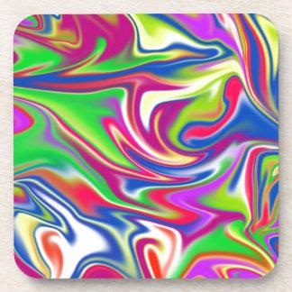 Marbleized Candy Liquid,_ Coaster