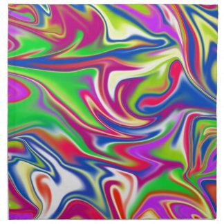 Marbleized Candy Liquid,_ Napkin