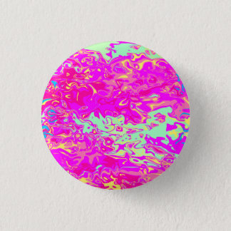 Marbleized Look Pinks Greens Yellow and Blue 3 Cm Round Badge