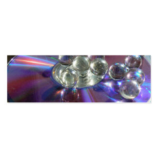Marbles on CD Bookmark Business Cards