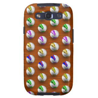 Marbles on Wood Pattern Galaxy S3 Covers