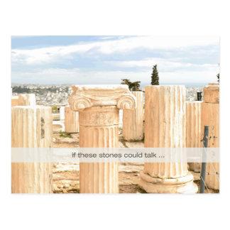 Marbles Reunited Postcard Pillars on the Acropolis
