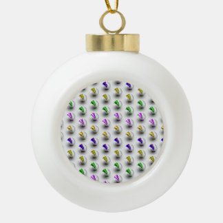 Marbles ZigZag Pattern Ceramic Ball Christmas Ornament