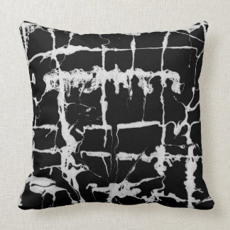 Marbling paper, ebrus technique, rich gothic cushion
