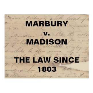 Marbury Madison Checks and Balances Resistance Postcard