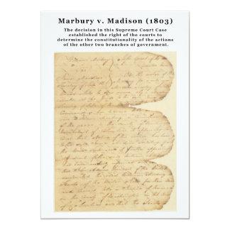 "Marbury v. Madison, 5 U.S. 137 (1803) 5"" X 7"" Invitation Card"