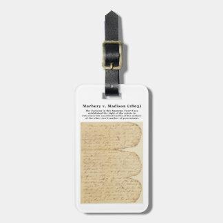 Marbury v. Madison, 5 U.S. 137 (1803) Tag For Bags