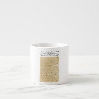 Marbury v. Madison, 5 U.S. 137 (1803) 6 Oz Ceramic Espresso Cup