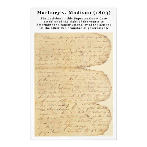 Marbury v. Madison, 5 U.S. 137 (1803) Customized Stationery