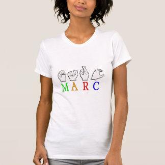 MARC FINGERSPELLED ASL NAME SIGN T-Shirt