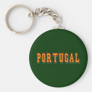 """Marca """"Portugal"""" por Fás do Futebol Português Basic Round Button Key Ring"""