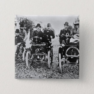 Marcel (d.1903) and Louis (1877-1944) Renault driv 15 Cm Square Badge