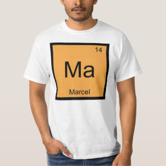 Marcel Name Chemistry Element Periodic Table T-shirts