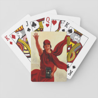 """Marcello Dudovich Art Deco """"Camera Advertisement"""" Playing Cards"""