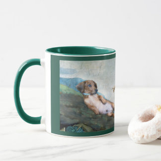 Marcello the creation of dog 11 oz Art Mug