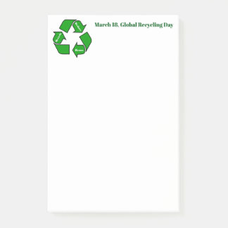 March 18, Global Recycling Day Design Post-it Notes