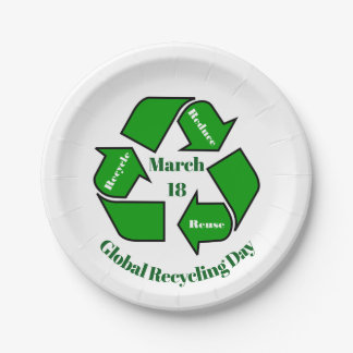 March 18, Global Recycling Day Paper Plate