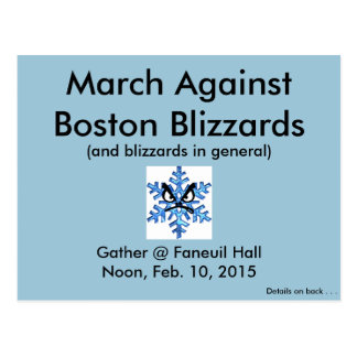 March Against the Boston Blizzards 2015!! Postcard