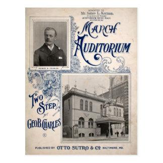 March Auditorium Music Hall Baltimore MD Postcard