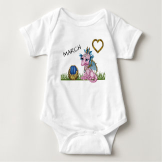 March Baby Dragon Baby Bodysuit