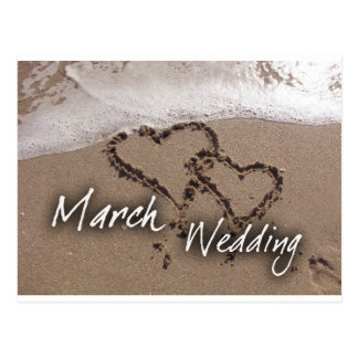 March  Beach Destination Weddin... - Customized Postcards