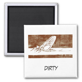 """""""March Brown May Fly"""" Dish Washer Status Magnet"""