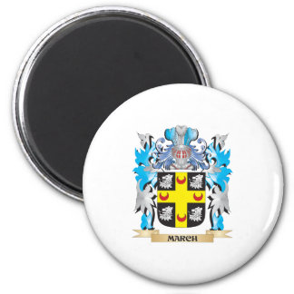 March Coat of Arms - Family Crest Magnets