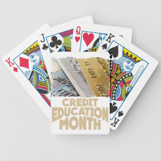 March - Credit Education Month - Appreciation Day Bicycle Playing Cards