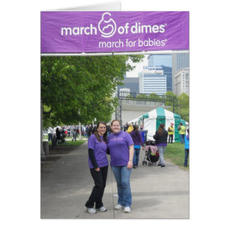 March for Babies 2012 Thank you card