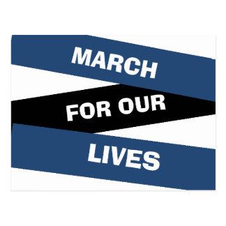 March for our Lives Activism Gun Reform Postcard