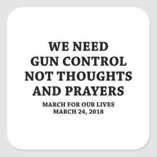 March For Our Lives Square Sticker