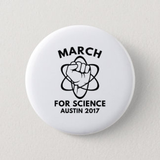 March For Science Austin 6 Cm Round Badge