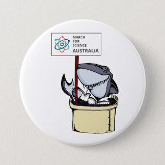 March for Science Australia - Shark - 7.5 Cm Round Badge