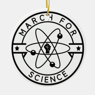 march_for science ceramic ornament