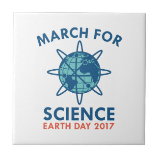 March For Science Ceramic Tile