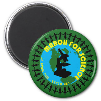 March for Science - Earth Day - 22 April 2017 6 Cm Round Magnet