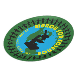 March for Science - Earth Day - 22 April 2017 Plate