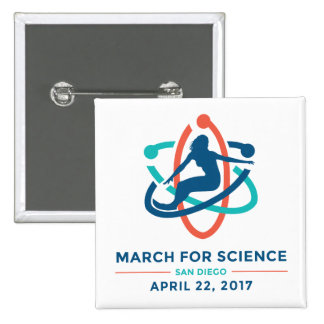 March For Science: San Diego - White Square Button