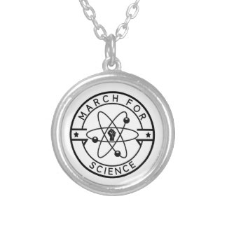 march_for science silver plated necklace
