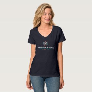 March for Science SV Women's V-Neck T-shirt Dark