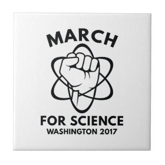 March For Science Washington Ceramic Tile